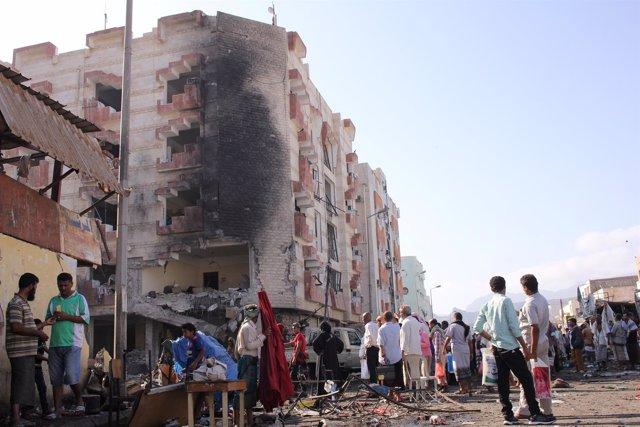 Explosión de un coche bomba en Adén