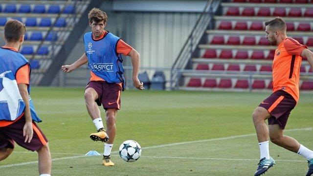 Sergi Roberto entrenamiento Barcelona