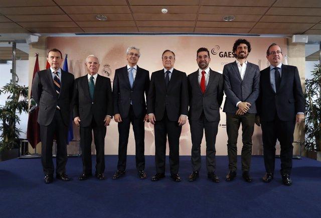 Florentino Pérez en la presentación de 'REAL, EL CONCIERTO'