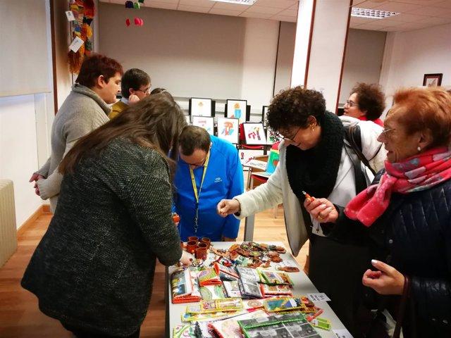 La concejal de Servicios Sociales visita el Centro Ocupacional