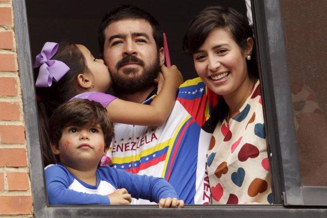El líder opositor venezolano Daniel Ceballos