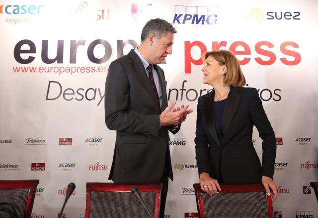 Xavier García Albiol y Cospedal en los Desayunos Informativos de Europa Press