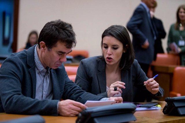 Eduardo Santos e Irene Montero