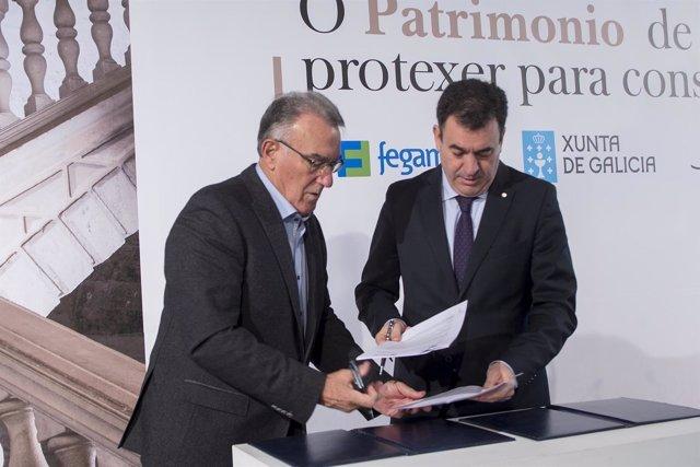 Firma del protocolo entre Fegamp y Xunta