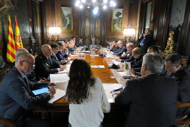 Reunión de coordinación del dispositivo policial para la jornada del 21-D