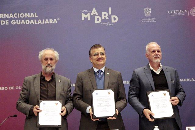 Acuerdo para la cesión del pabellón de Madrid en la FIL