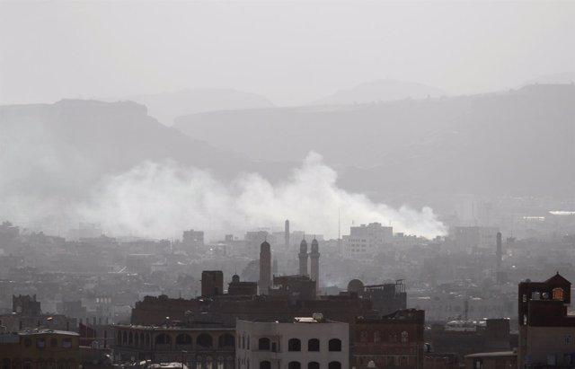 La ciudad de Saná, tras los enfrentamientos entre las distintas facciones