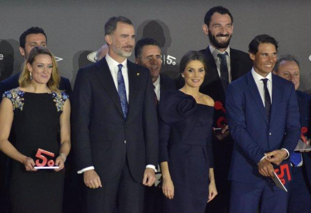 Reyes Felipe Letizia Rafa Nadal Mireia Belmonte Jorge Garbajosa