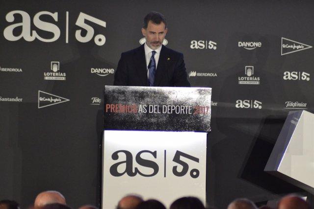 Rey Felipe VI Premios As Deporte 50 aniversario