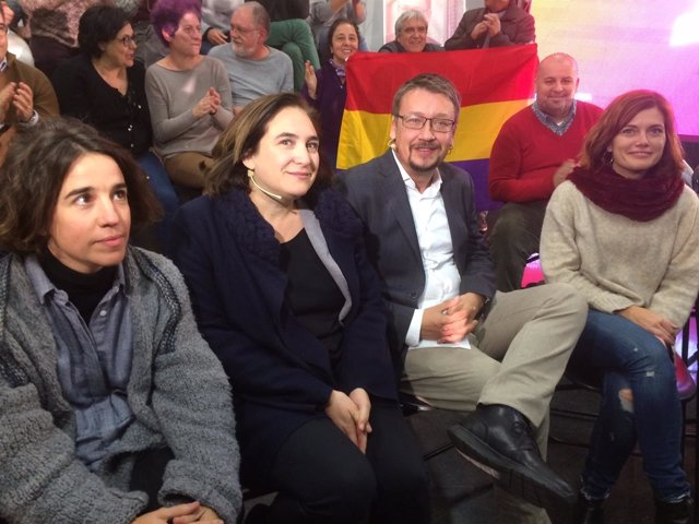 Ada Colau, Xavier Domènech, Elisenda Alamany y Mar Coll (CatEPC)