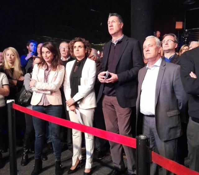 X.G. Albiol, S.Rodríguez, A. Levy y D. Montserrat (PP) en la apertura de campaña
