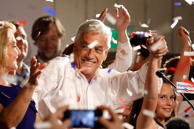 Sebastián Piñera celebra los resultados de las elecciones presidenciales