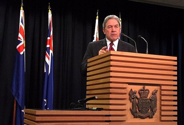 Winston Peters, ministro de Exteriores de  Nueva Zelanda.
