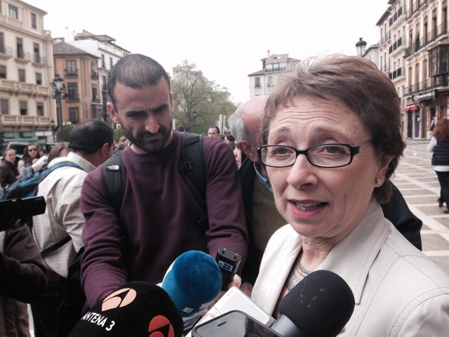 Carmen Martínez Aguayo a su salida del TSJA