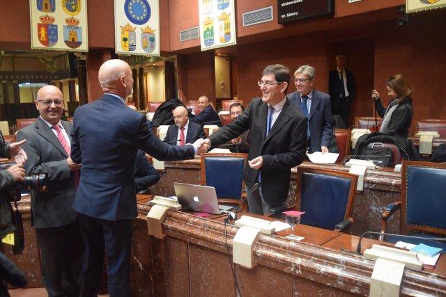 Villegas y Coronado en Comisión presentación Presupuestos Salud