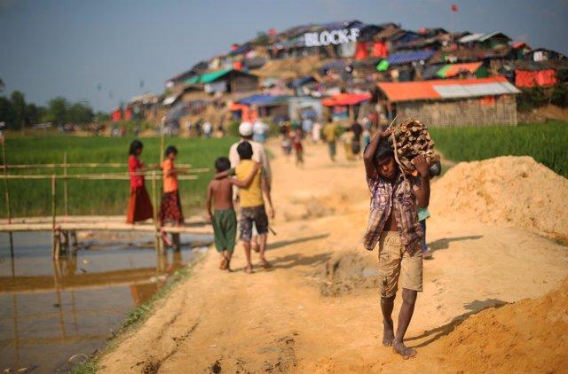 Campo de refugiados rohingya de Palong Khali