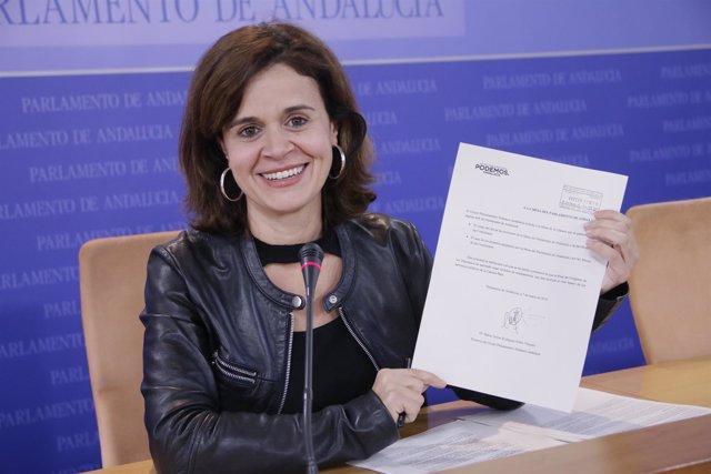 La portavoz adjunta de Podemos Andalucía Esperanza Gómez