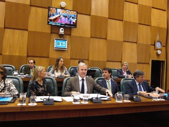 Grupo del PP en el pleno del Ayuntamiento de Zaragoza