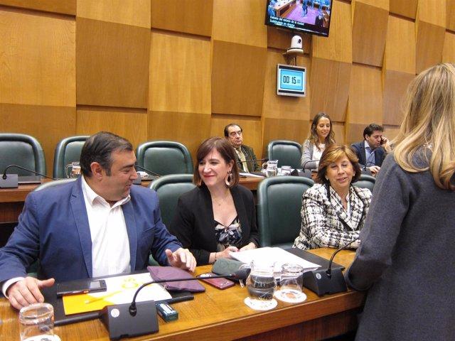 Concejales de Ciudadanos en el pleno del Ayuntamiento de Zaragoza