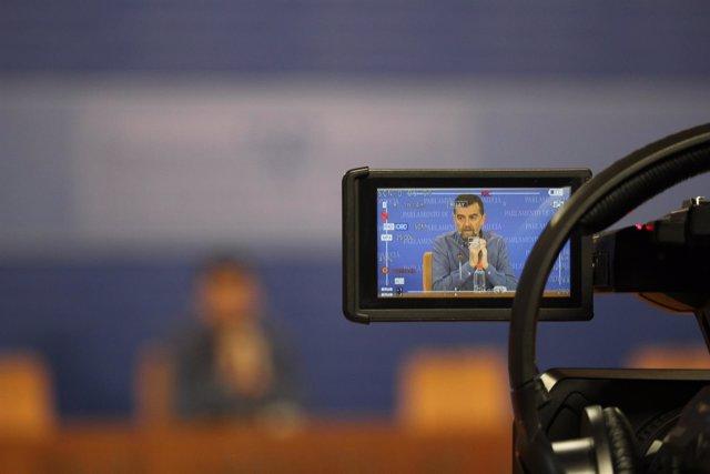 Antonio Maíllo, en rueda de prensa