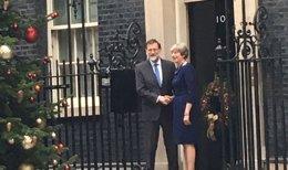 Rajoy y Theresa May en Downing Street
