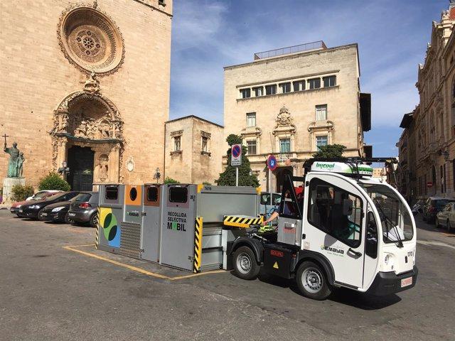 Recogida selectiva móvil en Palma