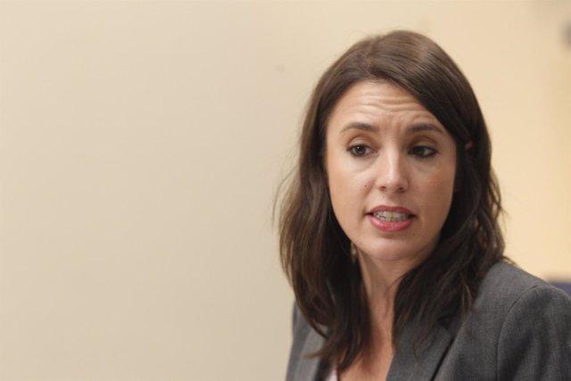 Irene Montero, portavoz de Unidos Podemos