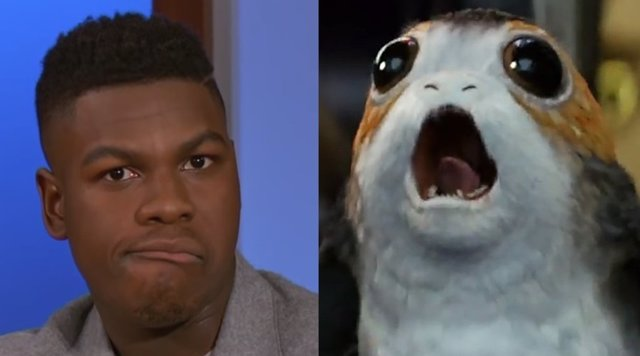 Johnson Boyega y los Porgs
