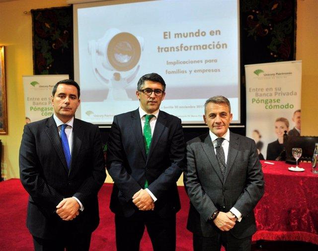 Pedro Martos, José  Enrique  Gutiérrez y Rafael Romero.