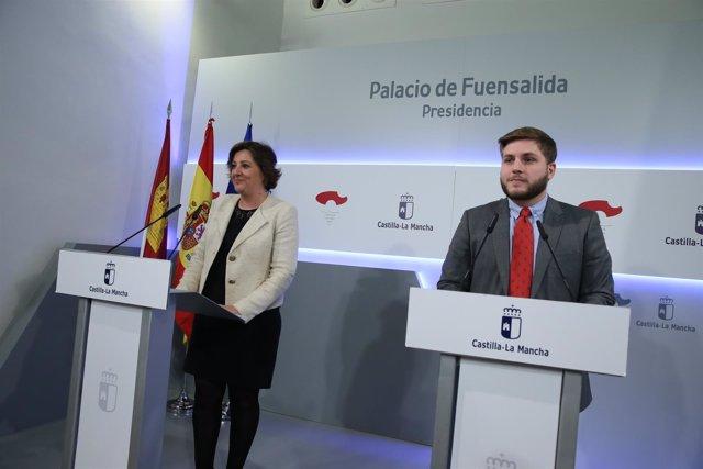 Hernando y Franco en rueda de prensa