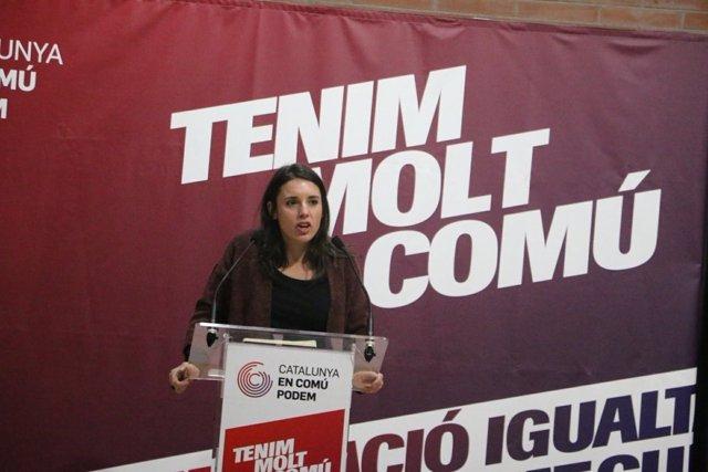 Irene Montero en un acto en Terrassa (Barcelona)