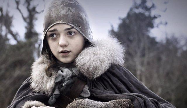 Arya Stark (Maisie Williams) en Juego de tronos