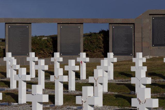 Cementerio Darwin en las Malvinas