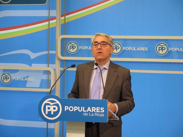 El portavoz popular Jesús Ángel Garrido