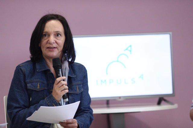 Carolina Bescansa en la presentación de la tercera edición de Impulsa