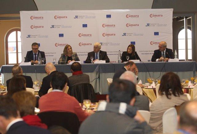Irene García en jornada de las cámaras de comercio de Cádiz