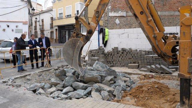 Las obras en Olula del Río están centradas en la mejora del servicio de aguas.
