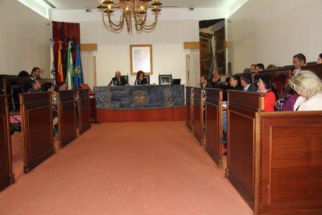 Pleno del mes de diciembre de 2017 en la Diputación de Huelva.