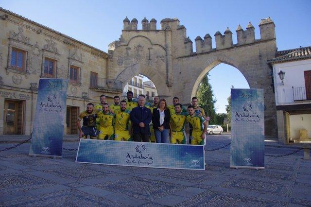 Jaén Paraíso Interior FS promociona 'Andalucía Huella Universal'.