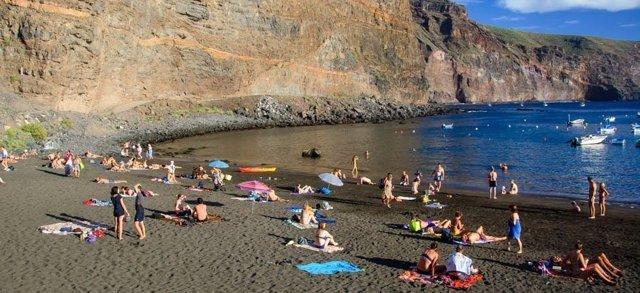 Playa de Vueltas en Valle Gran Rey, en La Gomera