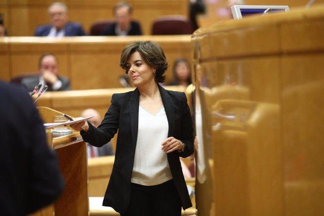 Santamaría comparece en la Comisión del artículo 155 en el Senado