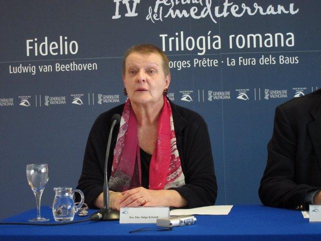 La exintendent del Palau de les Arts, Helga Schmidt