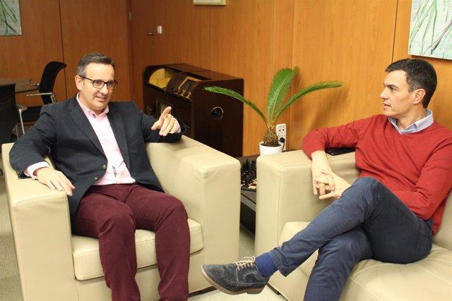 Diego Conesa con Pedro Sánchez