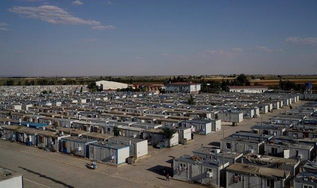 Vista general de un campo de refugiados en la provincia de Sanliurfa