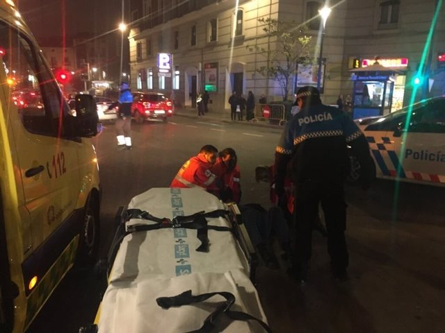 Atropello en la plaza Madrid de Valladolid