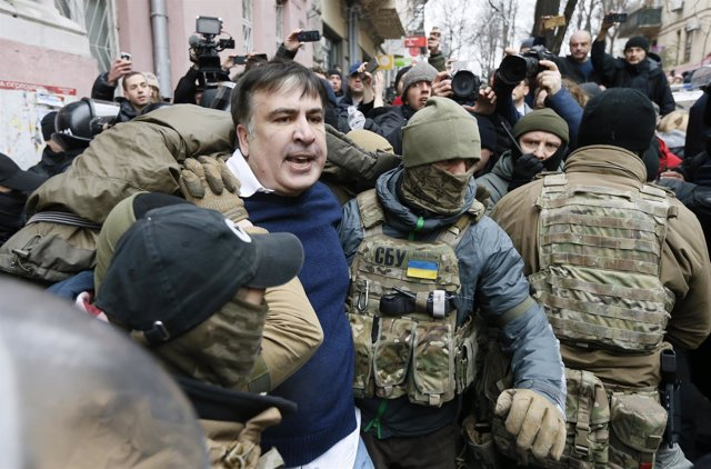 Mijail Saakashvili, en el momento de su detención en Kiev