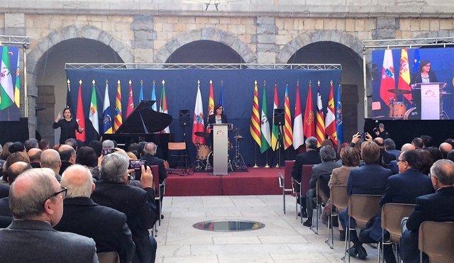 Dolores Gorostiaga en el 39 Aniversario de la Constitución