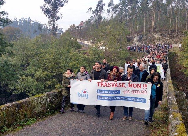 Protesta Soutomaior por el trasvase del río Verdugo