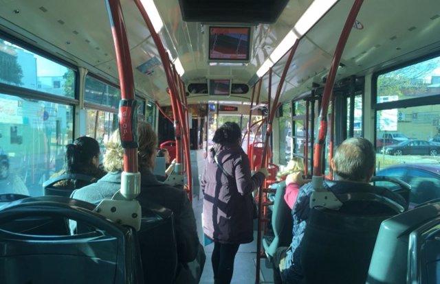 Autobús en el Polígono Sur