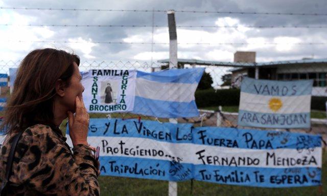Mensajes de apoyo al submarino 'ARA San Juan'